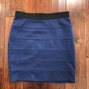 BCBG Max Azria Blue Bodycon Skirt